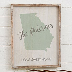 Personalized Barnwood Framed Wall Art - State Pride - 19248