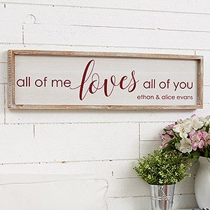 Personalized Barnwood Wall Art - All of Me - 19285