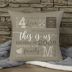 Personalized Throw Pillows - This Is Us - 19312