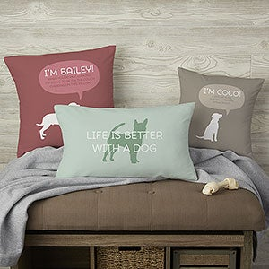 Pet Life Personalized Throw Pillows - 19316