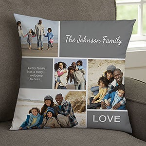 family love 14 photo collage throw pillow for her