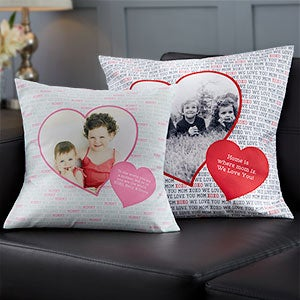 Personalized Photo Pillows - Photo Heart - 19320