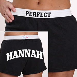 Personalization Mall Personalized Girls Athletic Shorts - U Name It In Black at Sears.com