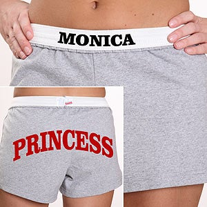 Personalization Mall Personalized Girls Athletic Shorts - U Name It In Grey at Sears.com