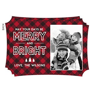 Custom Photo Christmas Cards - Merry & Bright - 19341