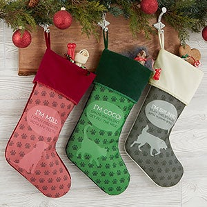 Personalized Pet Christmas Stockings - Pet Life - 19345