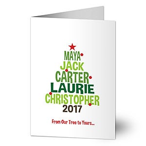 Buy Personalized Christmas Cards U0026 Add Your Own Text! Customize The  Christmas Tree Design With Your Family Names. Free Personalization U0026 Fast  Shipping.