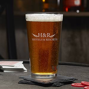 Personalized Business Logo 16oz. Beer Pint Glasses - 19367