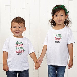 Dear Santa Personalized Kids Clothes - 19372