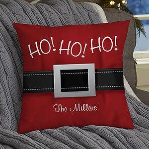 Personalized Santa Belt Holiday Pillows - 19381
