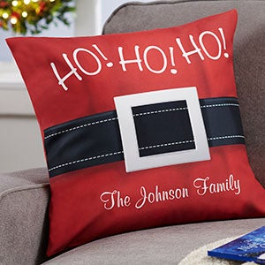 Personalized Santa Belt Holiday Pillows - 19381