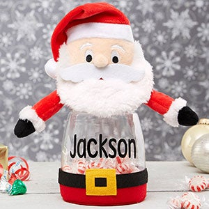 personalized santa candy jar christmas