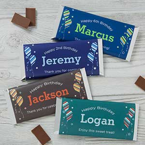 Personalized Candy Bar Wrappers - Birthday Boy - 19402
