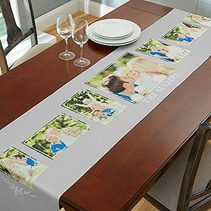 Personalized Photo Collage Table Runners - 19425