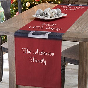 Personalized Holiday Table Runners - Santa's Belt - 19430