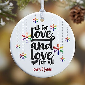 buy personalized gay pride ornaments add your own text photo choose from 4 unique lgbt pride designs free personalization fast shipping - Gay Pride Christmas Decorations