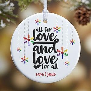 Personalized Gay Pride Ornament - Love Wins - 19447