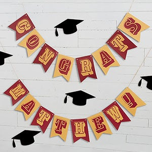 Personalized Graduation Party Bunting Banner - 19451