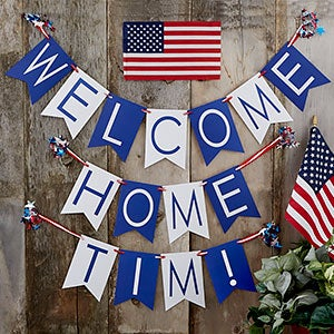 personalized welcome home bunting banner 19452