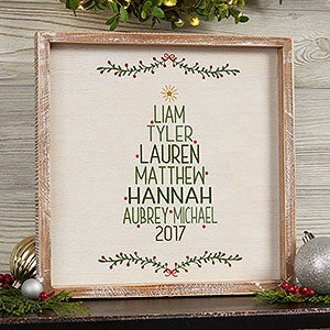 Personalized Framed Wall Art   Family Christmas Tree   19472