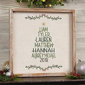 Personalized Framed Wall Art - Family Christmas Tree - 19472
