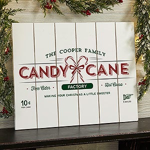 Personalized Wood Plank Signs - Vintage Holiday - 19474
