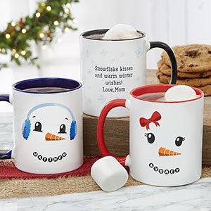 personalized christmas mugs snowman characters 19489 - Cheap Christmas Mugs