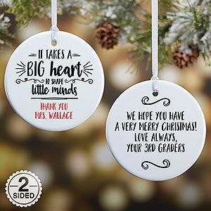 personalized teacher ornament it takes a big heart 19501