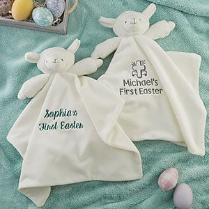 Baby's First Easter Personalized Lamb Security Blanket - 19515