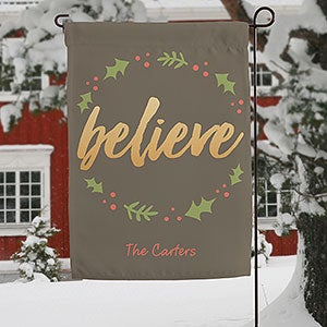 Personalized Garden Flag - Cozy Christmas - 19520