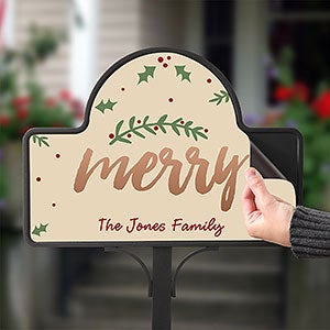 Personalized Garden Stakes - Cozy Christmas - 19524