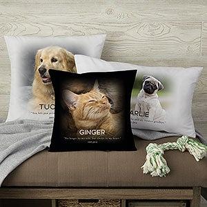 Personalized Photo Pillows - Pet Memorial - 19549