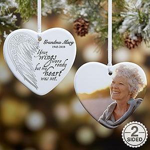 angel wings personalized photo memorial ornament christmas