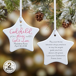 Personalized Godchild Ornament - God's Love - 19560