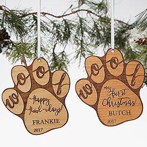 Happy Howl-idays Personalized Dog Ornament - 19567