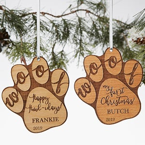 Happy Howl-idays Personalized Dog Ornament - 19567