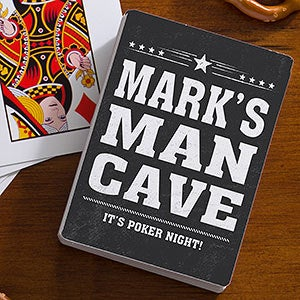 Personalized Playing Cards for Men - Add Any Text - 19568