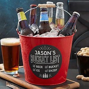 Personalized Metal Beer Buckets - Bucket List - 19576