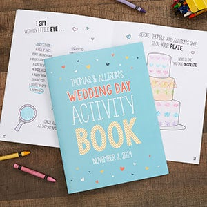 Wedding Day Personalized Coloring Activity Book - 19580