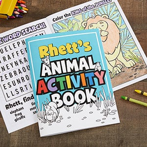 Personalized Coloring Activity Book - Amazing Animals - 19581
