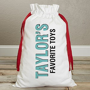 Personalized Kids' Canvas Toy Bag - Bold Type - 19583