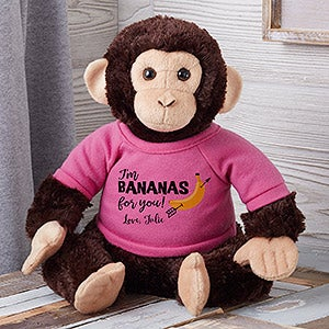Bananas For You Personalized Plush Monkey