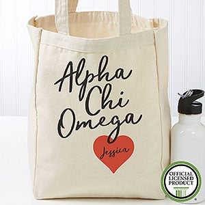 Personalized Alpha Chi Omega Sorority Tote Bag - Small - 19594