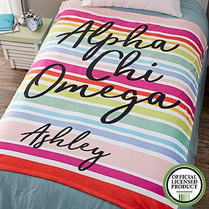 Personalized Sorority Blankets - Alpha Chi Omega - 19596