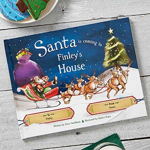 Personalized Kids Christmas Books - Santa is Coming to My House - 19627D