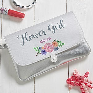 Personalized Bridesmaid Wristlet - Floral Wreath - 19676
