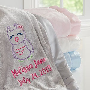 Custom Baby Girl Blanket - Lovable Characters - 19683