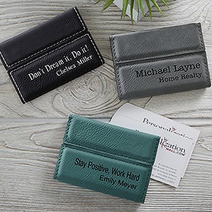Personalized Business Card Cases - Signature Series - 19686