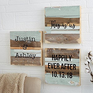 Reclaimed Wood Wall Art   Add Any Text   19696