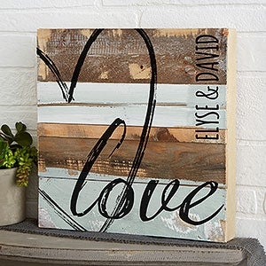 LOVE Reclaimed Wood Wall Art - 19700
